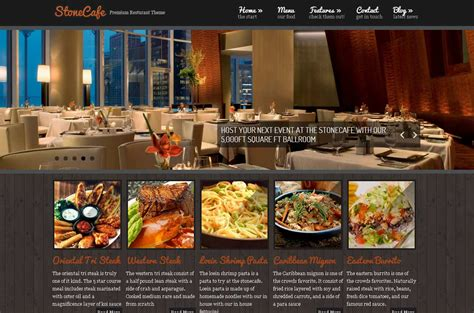 Restaurant Theme Stonecafe Premium Restaurant Theme