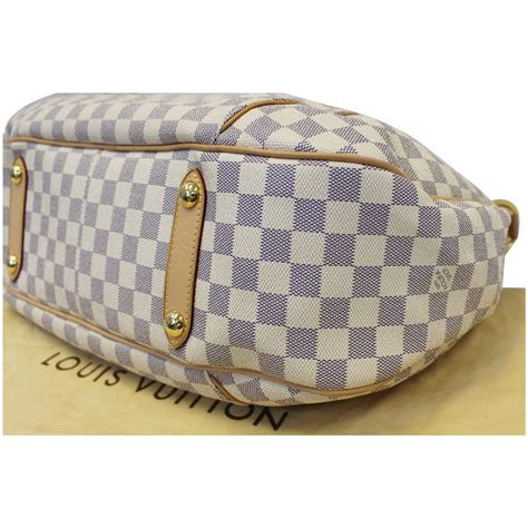 louis vuitton galliera gm damier azur shoulder bag white