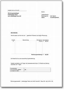 Formlose Rechnung : neue downloads b rovorlagen dokumente vorlagen ~ Themetempest.com Abrechnung