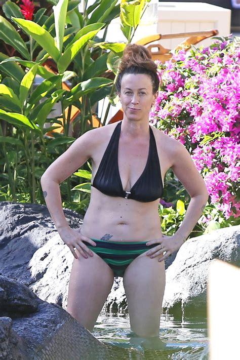 ALANIS MORISSETTE in Bikini in Hawaii – HawtCelebs