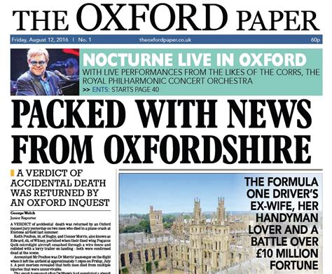 oxford press uk copy new weekly paper launches in oxford as newspapers
