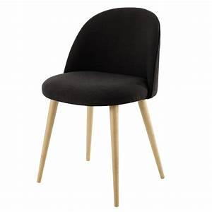Charcoal Grey Fabric Vintage Chair Mauricette Maisons Du