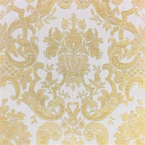 milano classic damask wallpaper cream gold