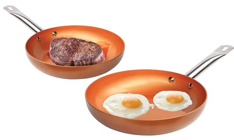 tv  nonstick copper frying pan groupon