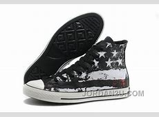 Cool CONVERSE American Flag Black Red White Graffiti Print
