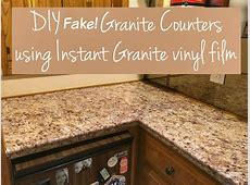 Transform Your Countertops with a DIY Fake Granite Counter