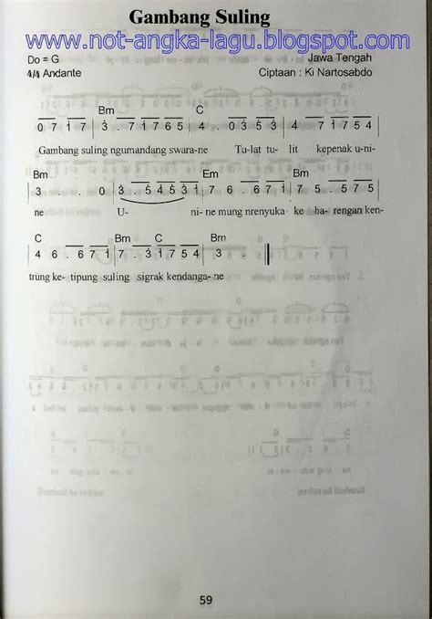 not angka lagu o ina ni keke not angka lagu gambang suling kumpulan not angka lagu
