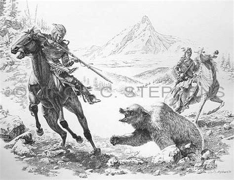 pencil drawing western art fine art print grizzly bear