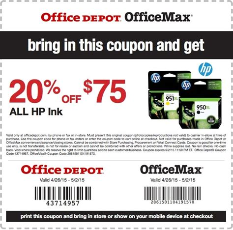 Office Depot Coupons For Printer by Office Depot Coupon Printer Ink Samurai Blue Coupon
