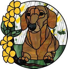 obsession art glass stained glass dachshund dog stained
