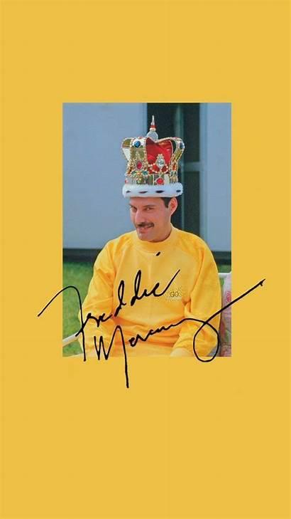 Queen Wallpapers Mercury Freddie Yellow Aesthetic Smile