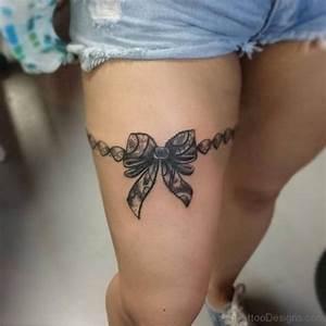 47 Brilliant Bow Tattoos On Thigh
