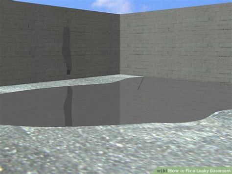 fix  leaky basement  steps  pictures wikihow