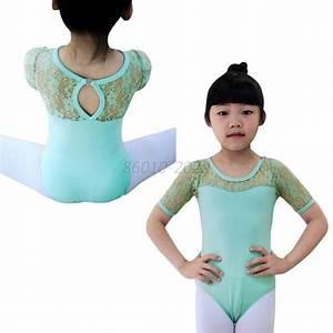Fashion Kids Girls Ballet Dance Dancewear Leotard Lace ...