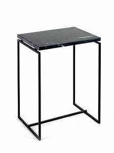 Table D Appoint Haute : table d 39 appoint haute avec tablette en marbre vert ou noir ~ Nature-et-papiers.com Idées de Décoration