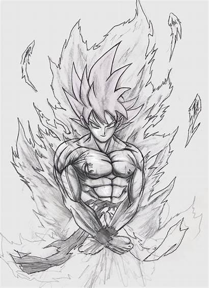 Goku Drawings Super Drawing Fan Ssj Saiyan