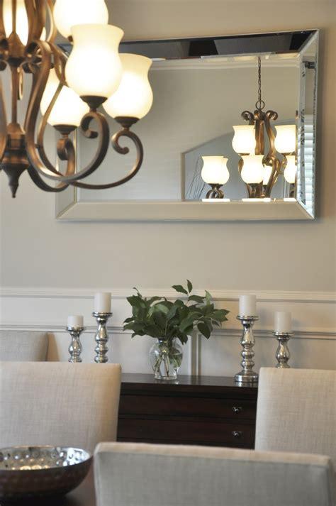 dining room progress drapes mirror honey  home