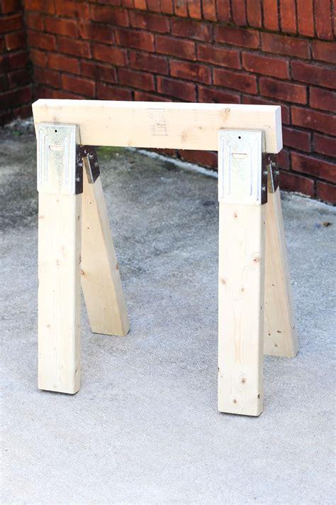 easy diy sawhorse  horse diy diy wood shelves easy diy