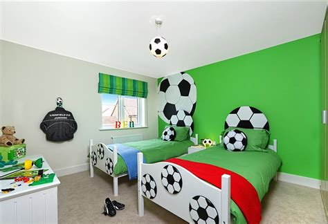 Soccer Themed Bedroom Photography by Sports Themed Bedrooms Football Theme With Football