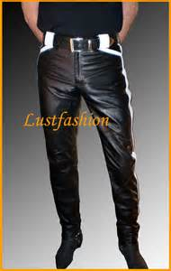designer lederhose herren lederhose schwarz weiß lederhose herren designer leder hose leather trousers ebay