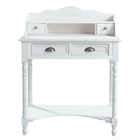 bureau d angle conforama bureau secrétaire en bois blanc l 80 cm joséphine