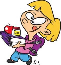 Getting Ready for School Cartoon Clip Art