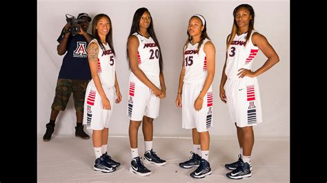 arizona womens basketball   scenes photo shoot