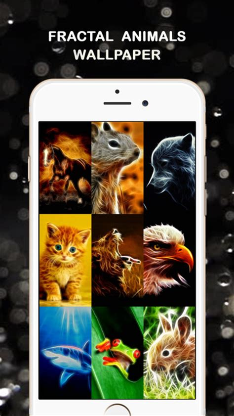 app shopper fractal art animal wallpapers  lifestyle