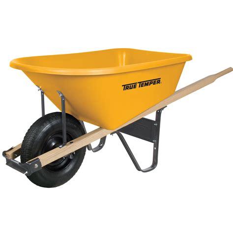 cubic foot poly wheelbarrow true temper tools
