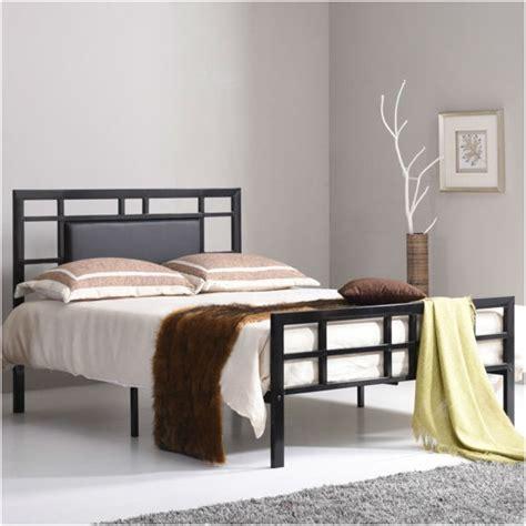 bed frame with headboard verysmartshoppers size black metal platform bed