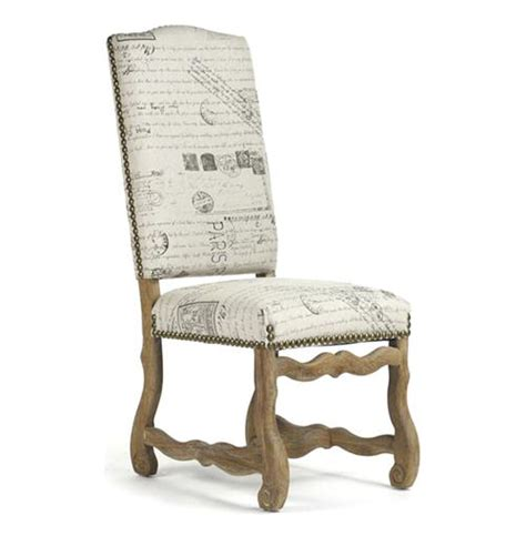 marcelle country linen script camel back dining chair kathy kuo home