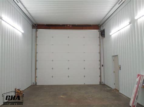 insulated garage door custom pole barn building options interior exterior