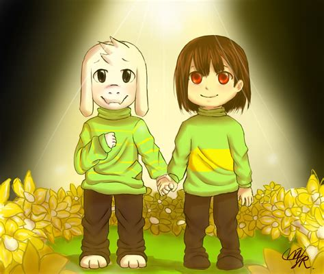 undertale asriel and chara by yoni m on deviantart