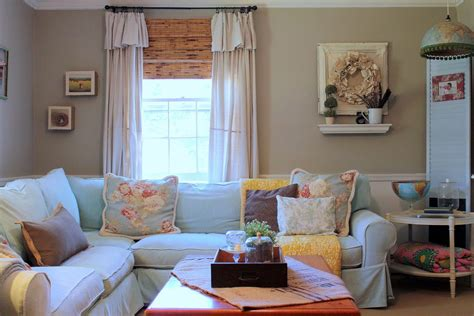 Philadelphia Moroccan Style Curtains Living Room Shabby-chic With Corner Sofa Inside Mount