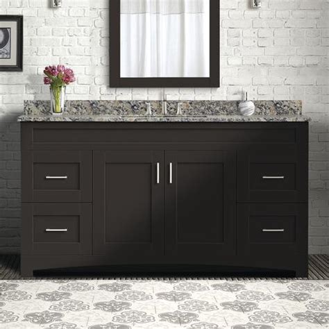 "The cabinet for the bathroom is an. Magick Woods Elements Brighton 60""W x 18""D Bathroom Vanity ..."