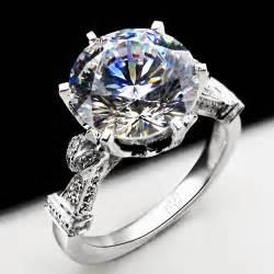 3 carat moissanite engagement rings top luxury royal design 3 carat moissanite engagement ring 18k white gold wedding