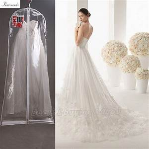 prativerdi 1x clear wedding dress cover storage bags With wedding dress cover