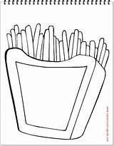 Coloring Fries Food Junk Kentang Pages Goreng French Favorite Colouring Print Outline Worksheets Cursive Twistynoodle Character Noodle Favorites Login Built sketch template