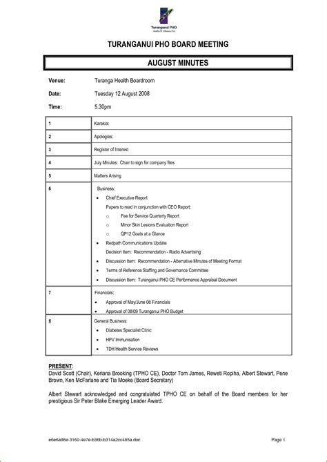 Minute Formats Templates by 7 Meeting Minutes Format Bookletemplate Org