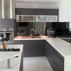 credence de cuisine miroir noir With credence en miroir pour cuisine