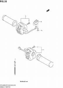 2003 Suzuki Vs1400glp Intruder Handle Switch Parts  2003