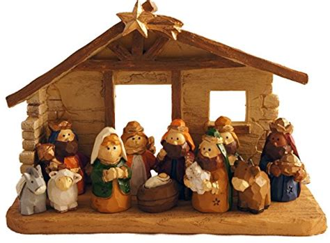 Home Interior Nativity Scene : Miniature Kids Christmas Nativity Scene With Creche, Set