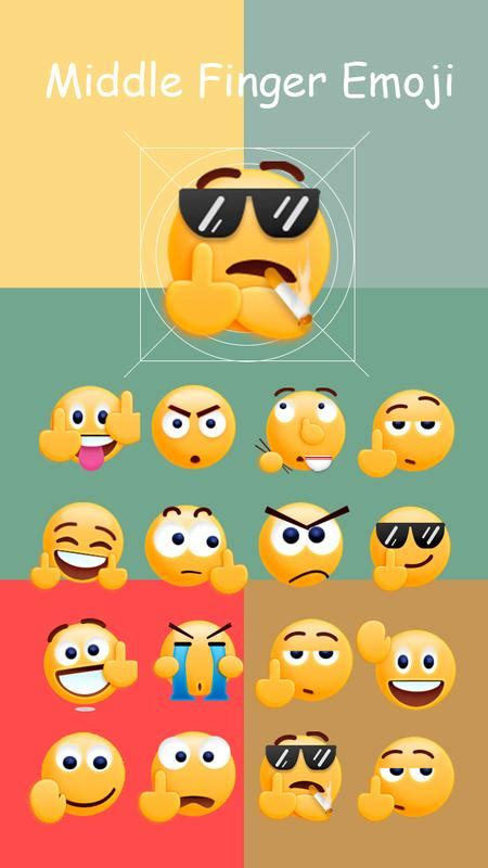middle finger emoji sticker apk   social app