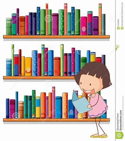 Bookshelves Reading Library Background Clipart Illustration Bookshelf
