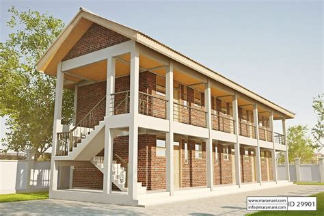 10 Bedroom Hostel Design ID 29901 House Plans by