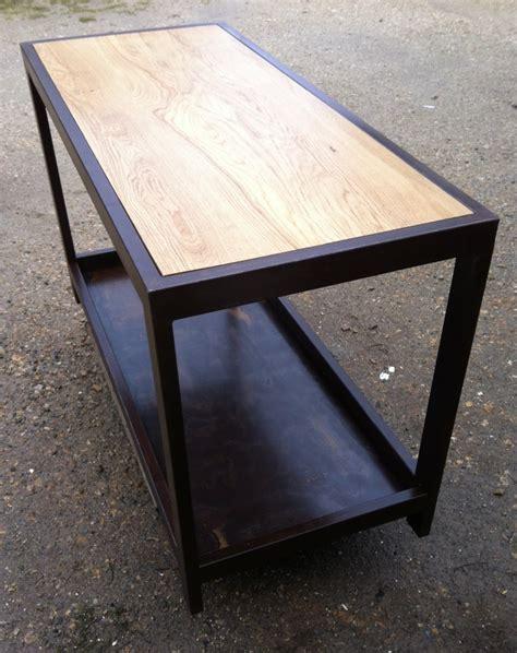 table cuisine bois table comptoir de cuisine établi métal et bois