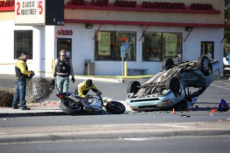 person dead  motorcycle car crash  northwest las