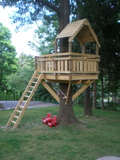tree fort ladder gate roof finale fort plans tree