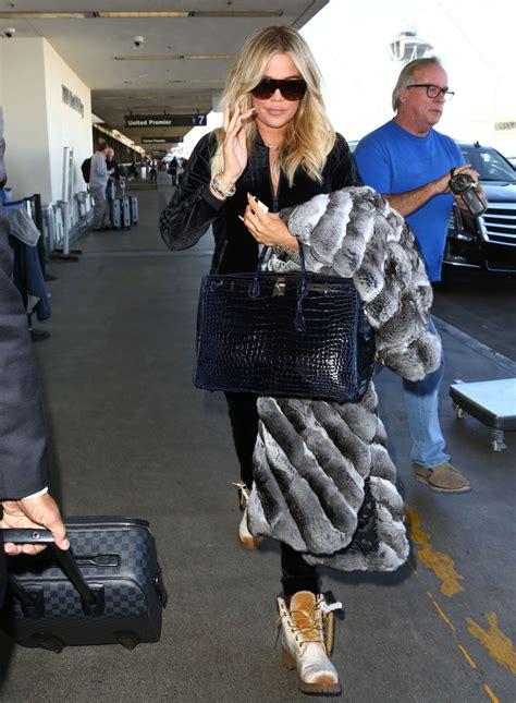 Khloe Kardashian at LAX Airport in Los Angeles • CelebMafia
