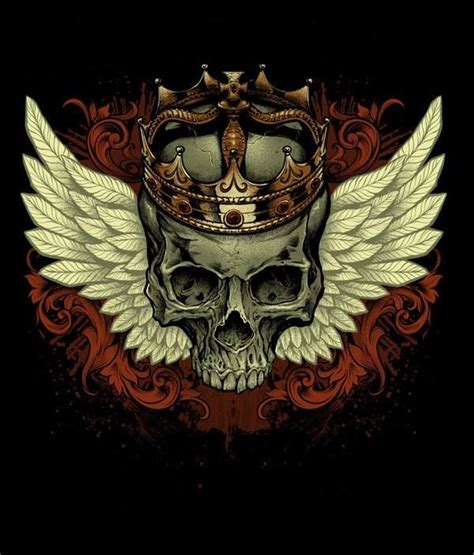 Skull With Wings And Crown  Wwwimgkidcom  The Image